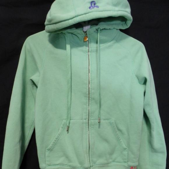 Aritzia TNA, light green zip sweatshirt hoodie